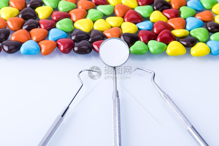 牙医工具药片图片