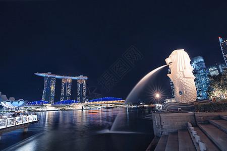 新加坡地标鱼尾狮公园图片