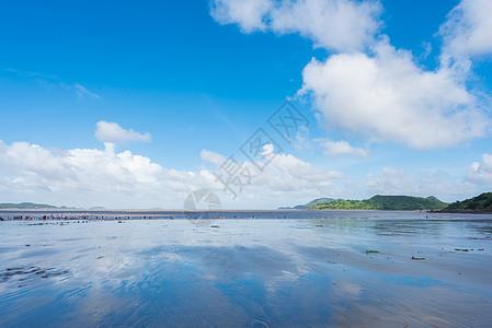 夏日海滨风光图片