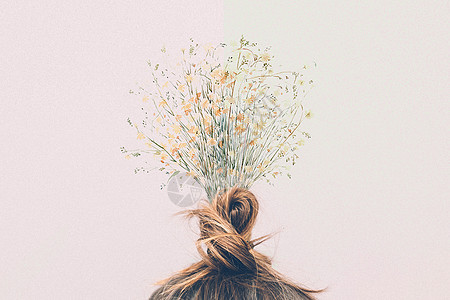 创意花束头饰图片