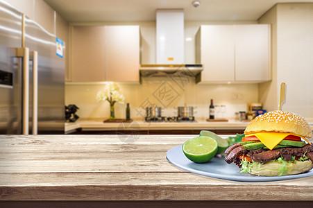 汉堡美食背景图片