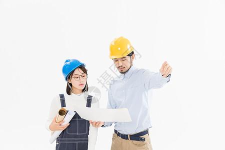 工程师施工讨论图片