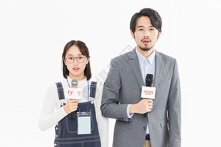 新闻记者采访图片