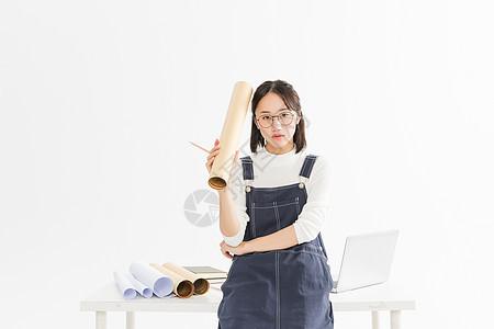 年轻女设计师图片