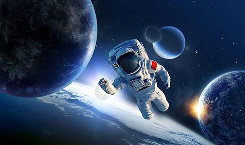 外太空宇航员海报图片