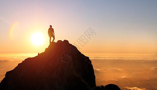 登山者图片