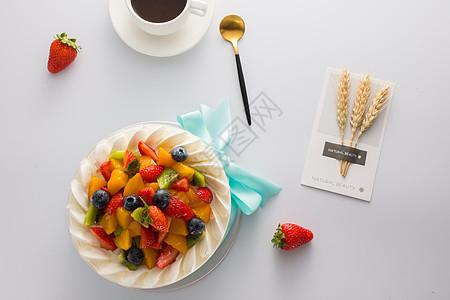 水果奶油生日蛋糕图片