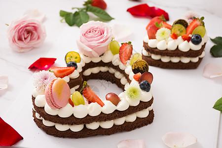爱心蛋糕图片