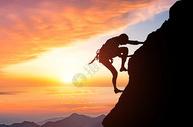 攀岩山峰图片