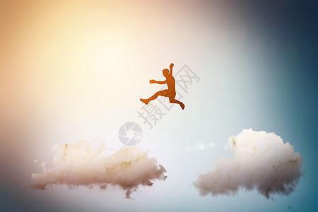 跨越云彩图片