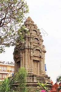 柬埔寨首都金边皇家寺庙佛塔图片