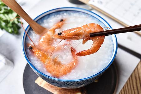 虾肉稀饭图片