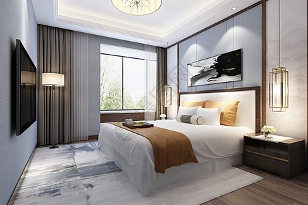 后现代卧室背景图片