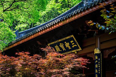 杭州灵隐寺三圣宝殿图片