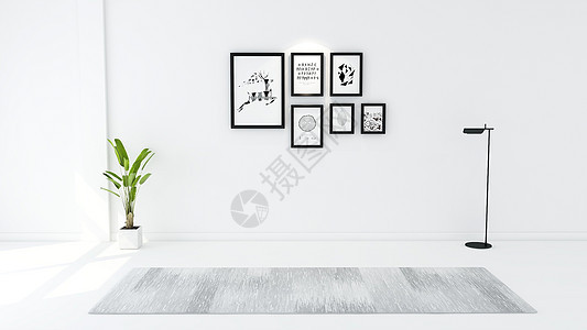 简约系室内家居背景合成图片