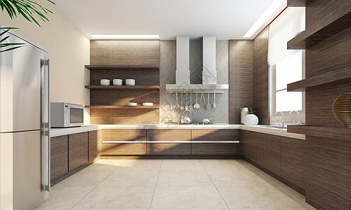 后现代风格厨房图片
