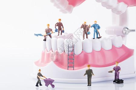 牙齿口腔护理图片