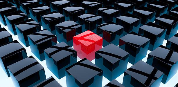 抽象方块场景图片