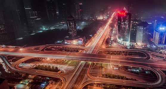 北京市立交桥四元桥夜景图片