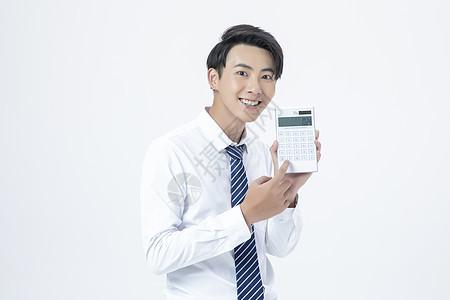 商务男性预算计算器图片