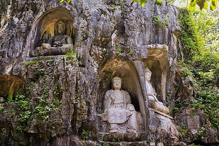 杭州灵隐寺飞来峰石刻图片