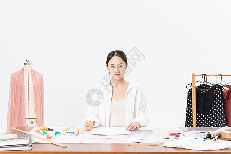 女服装设计师图片