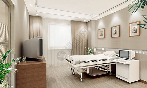 医院病房效果图图片