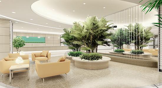 现代医院休闲区效果图图片
