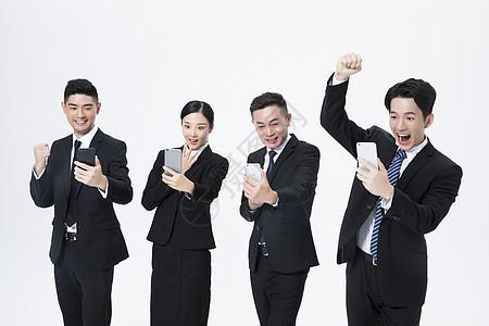商务团队手机图片