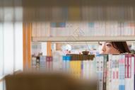 图书馆小清新美女看书501030740图片
