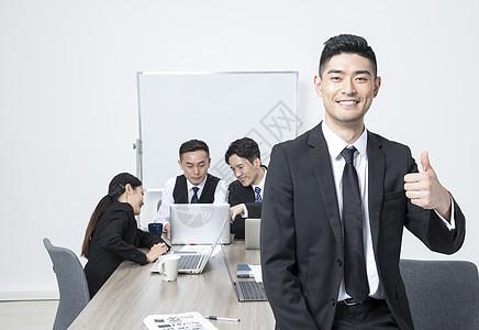 商务团队工作会议图片