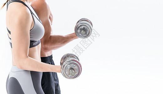 运动健身哑铃图片