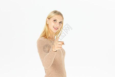 美女模特手势图片