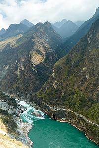 云南香格里拉虎跳峡风光山谷图片