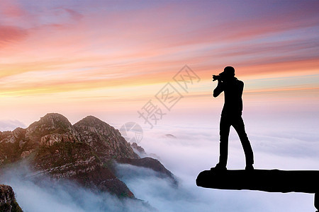 摄影师剪影图片