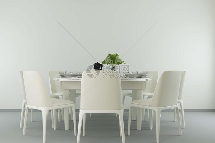现代餐桌场景图片