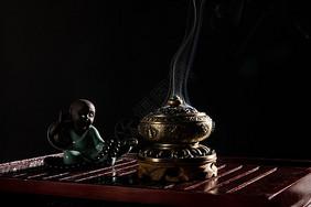禅意香炉佛系摆件图片