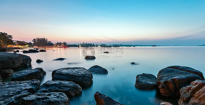 柬埔寨西哈努克港-静谧海海滩 图片