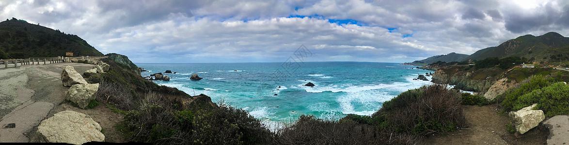 美国太平洋全景长图图片