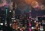 城市节日烟花夜景图片