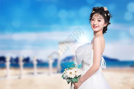 婚礼上的新娘图片