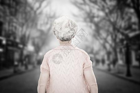 孤寡老人图片