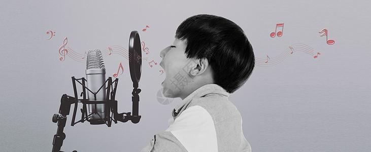 唱歌的小孩图片
