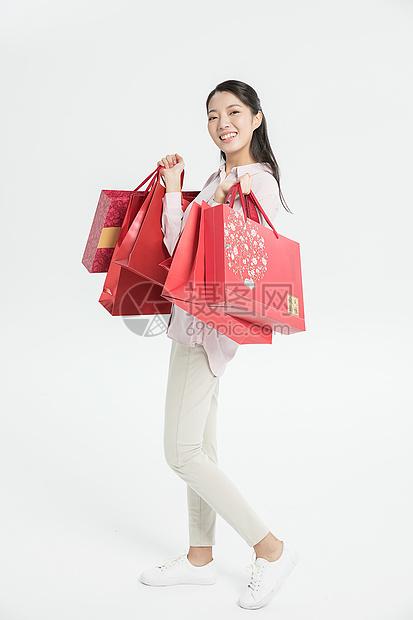 中秋节女生送礼图片