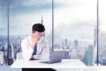 职场男士压力图片