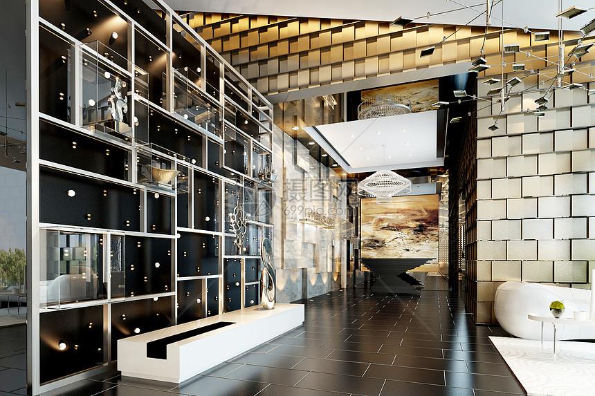 现代走廊大堂图片