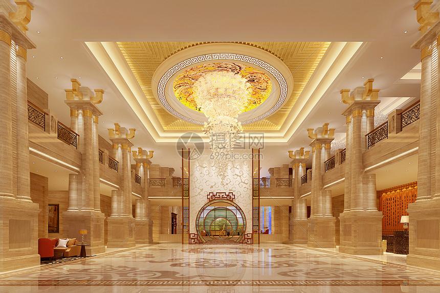 新中式大堂图片