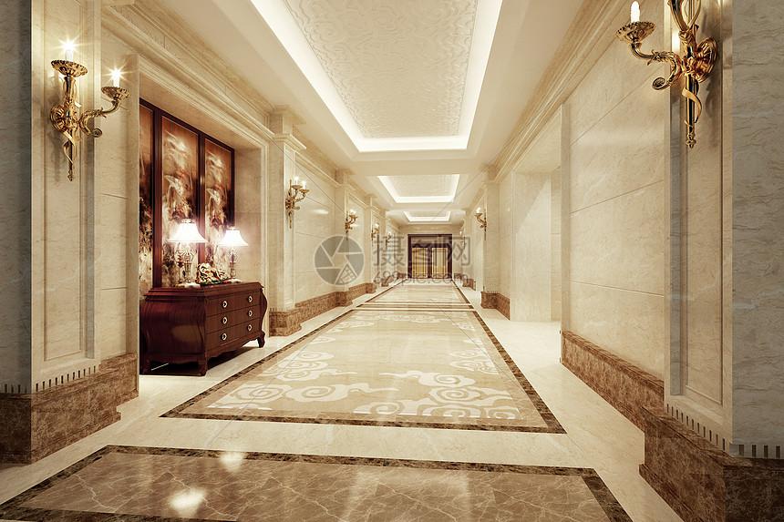 欧式走廊图片