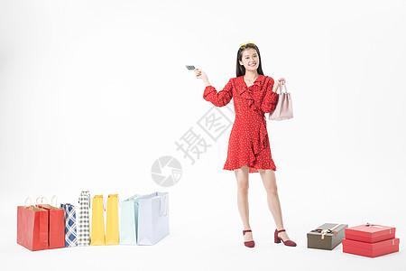 女性购物信用卡支付优惠图片