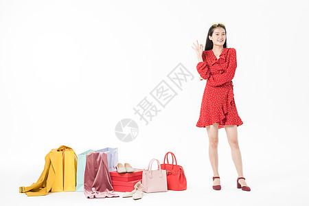 女性购物狂欢节图片